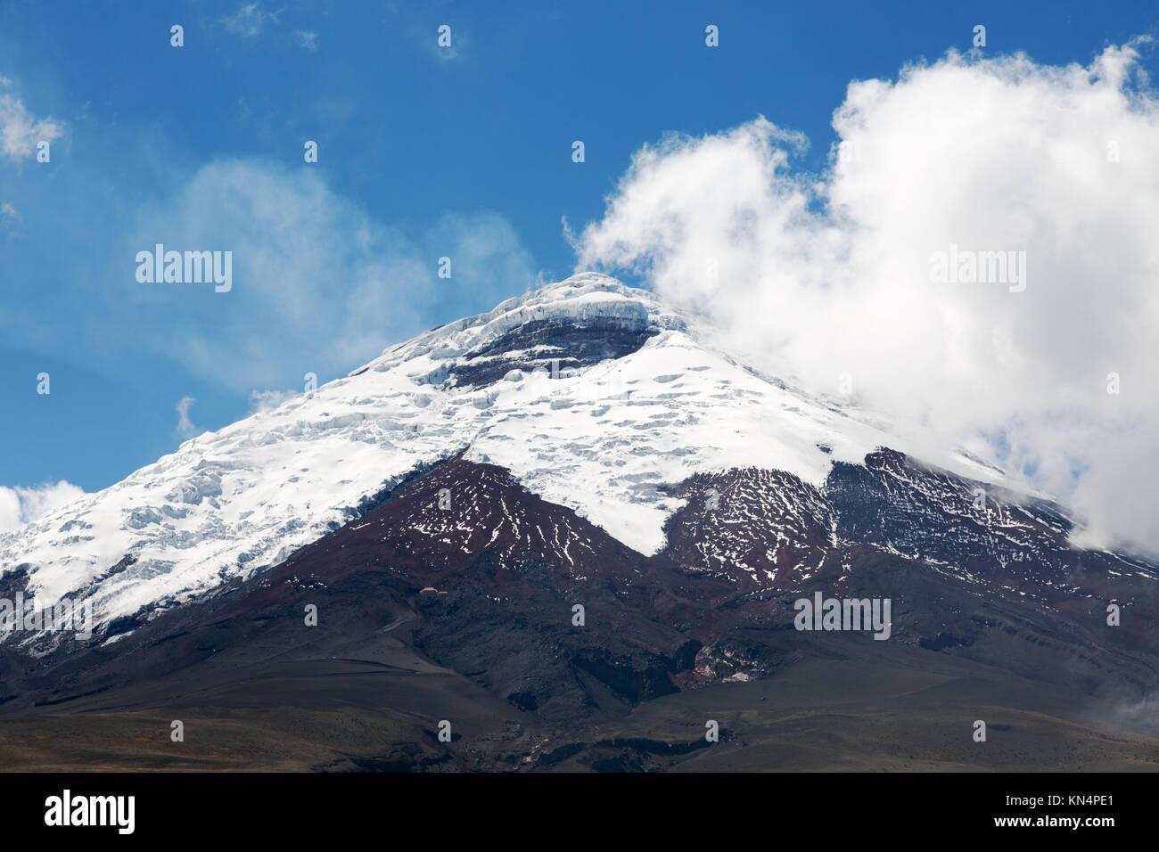 Vulkan Cotopaxi, Cotopaxi Nationalpark, Ecuador Südamerika Stockbild