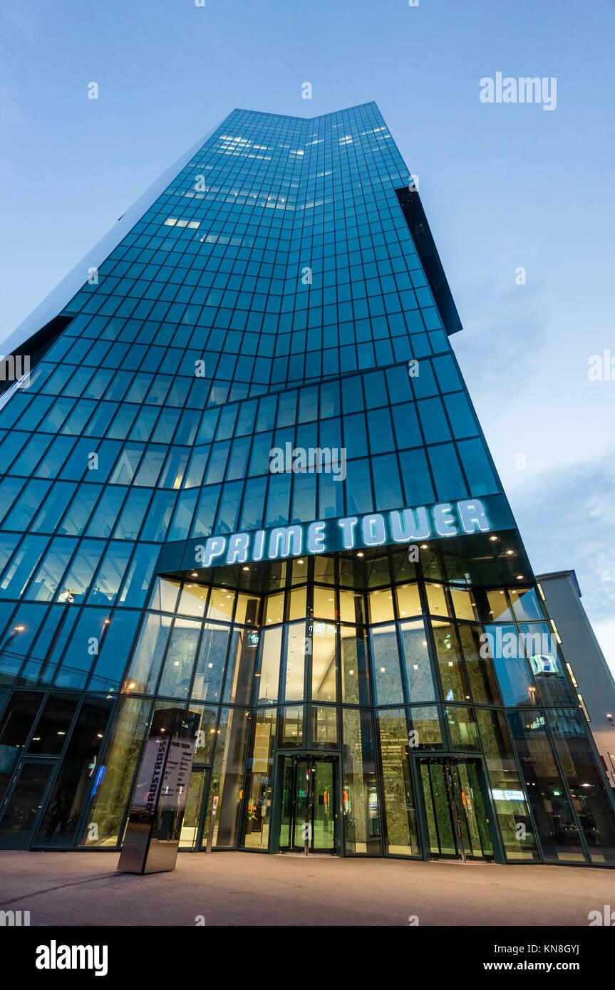 Prime Tower, Kreis 5, Hochhaus, Zürich, Schweiz, Stockbild