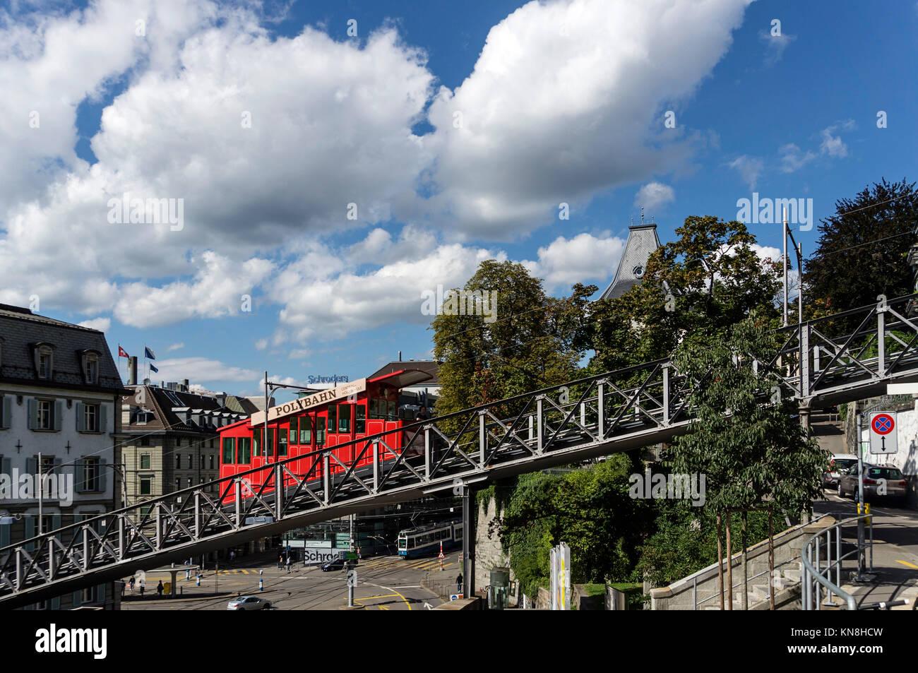 Polybahn, Zürich, Schweiz Stockbild