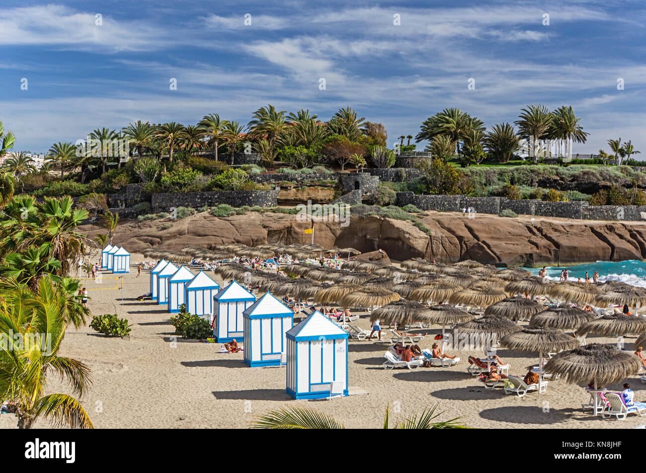 Bahia Del Duque Beach, Resort, Teneriffa, Spanien Stockbild