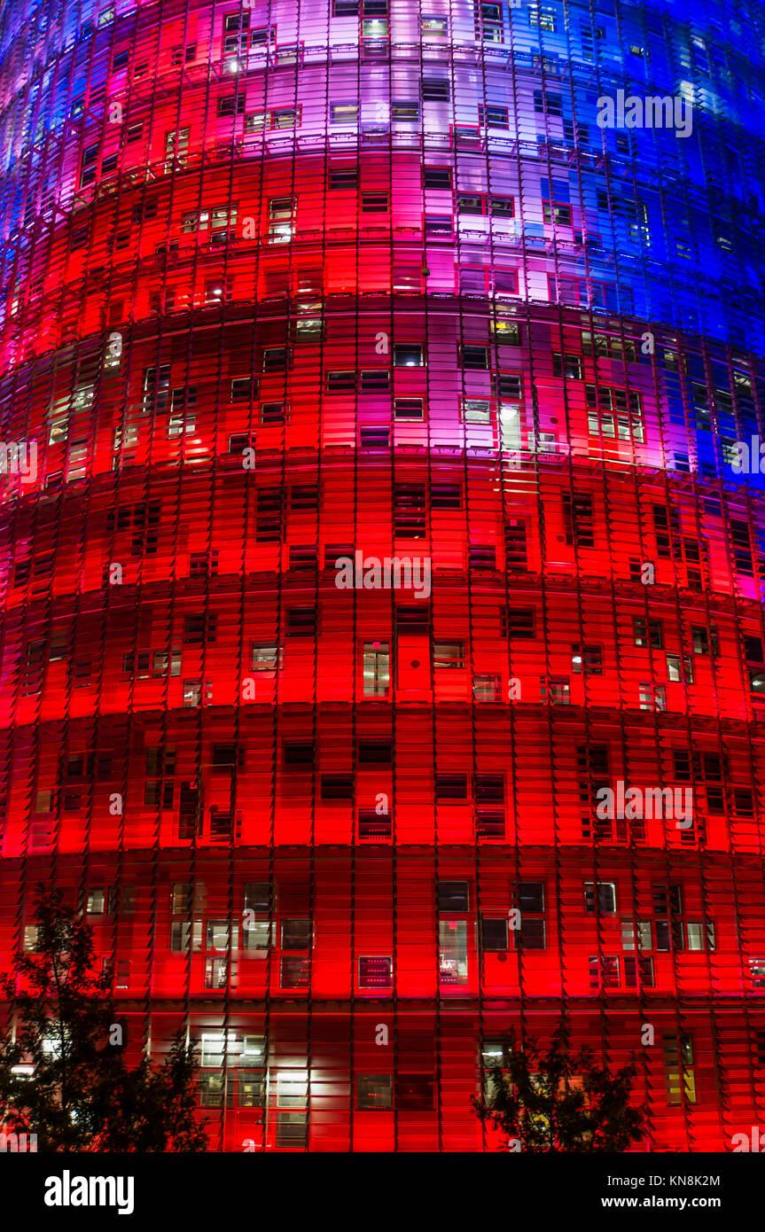 Torre Agbar von Jean Nouvel, Barcelona, Katalonien, Spanien, nur | redaktionelle Verwendung Stockbild