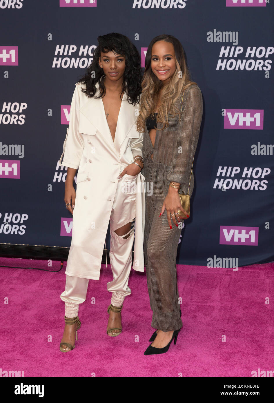 New York, NY - 11. Juli 2016: Elisa Johnson, Samaria Leah Smith besuchen 2016 VH1 Hip Hop Honors: All hail The Queens Stockbild