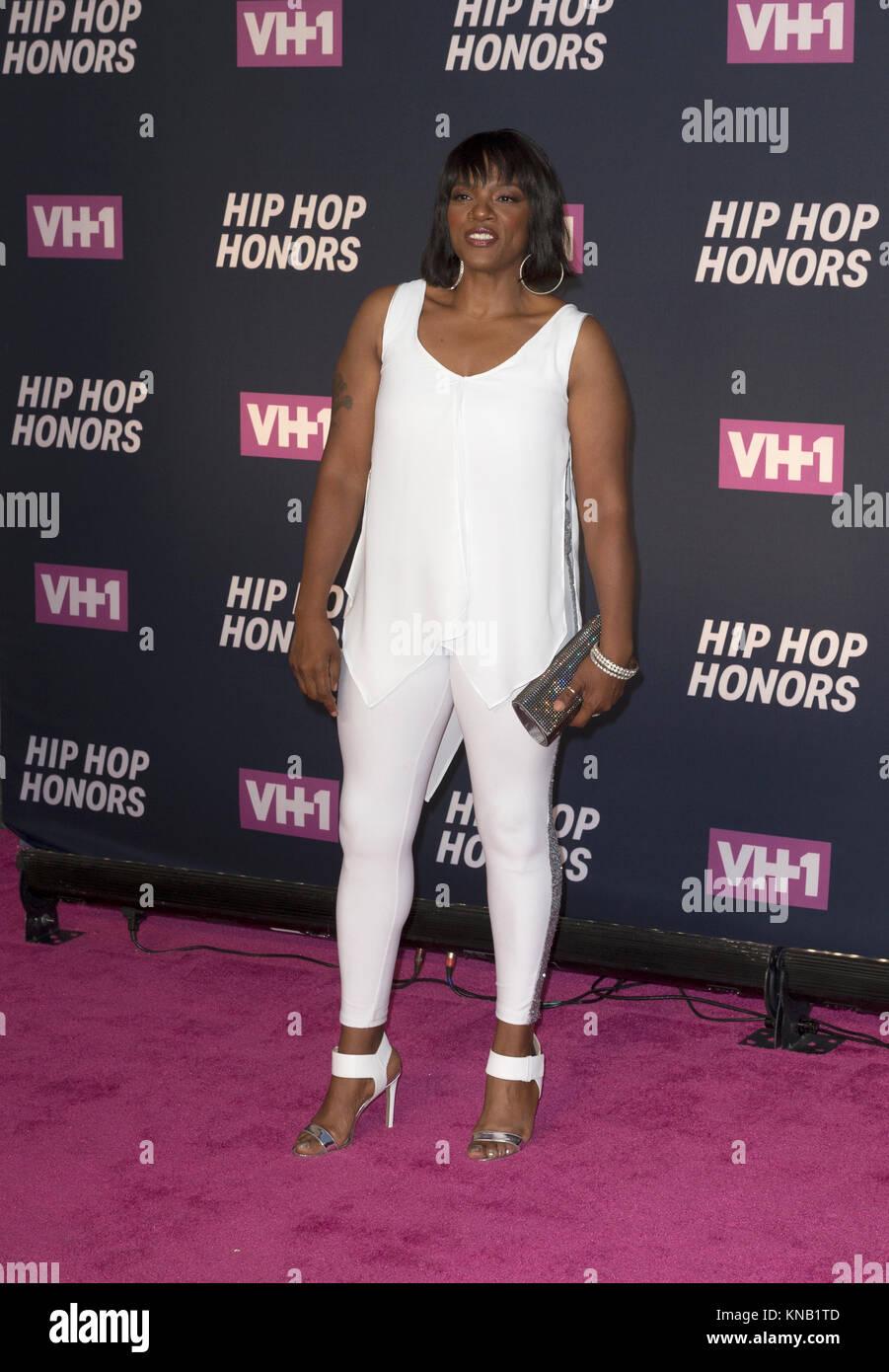 New York, NY - 11. Juli 2016: Nikki D besucht 2016 VH1 Hip Hop Honors: All hail The Queens am Lincoln Center Stockbild