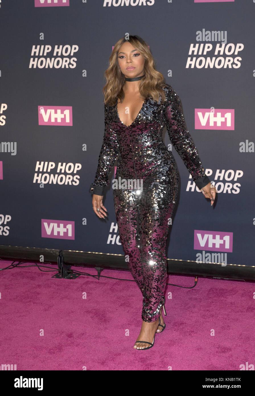 New York, NY - 11. Juli 2016: Ashanti besucht 2016 VH1 Hip Hop Honors: All hail The Queens am Lincoln Center Stockbild