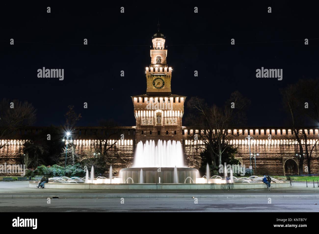 Castello sforzesco mailand italien denkmal for Architektur mailand