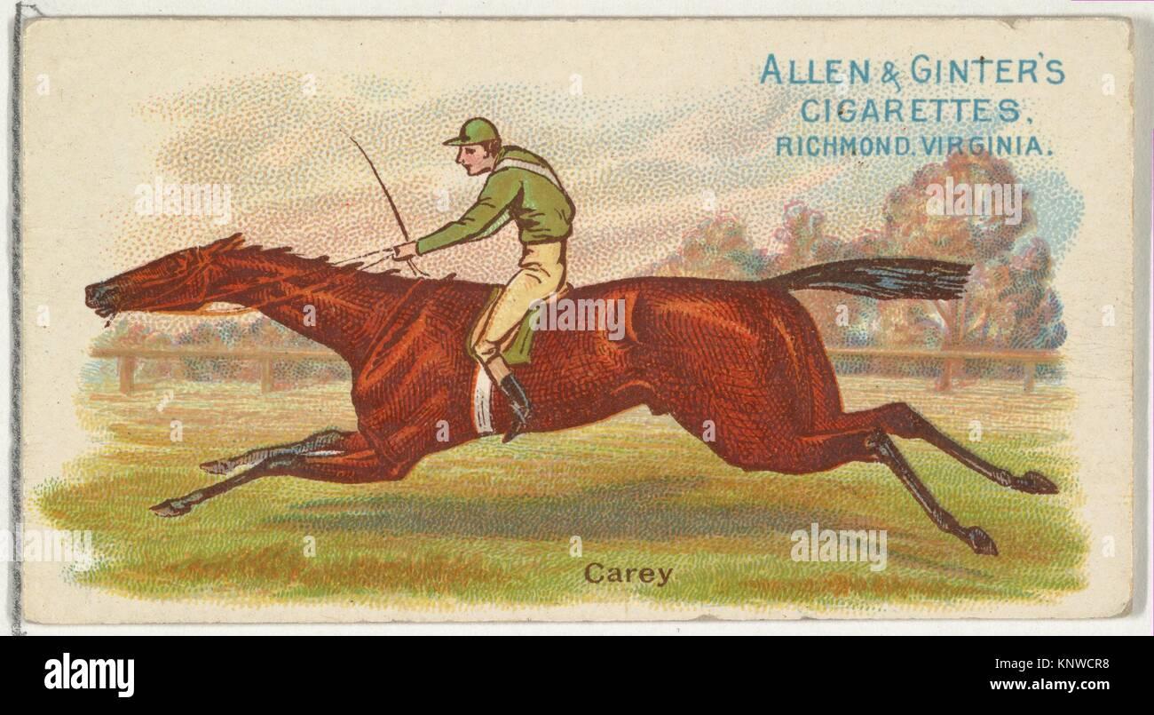 Carey, von der Welt Racers Serie (N32) für Allen & Ginter Zigaretten. Herausgeber: Herausgegeben von Allen&Ginter Stockbild