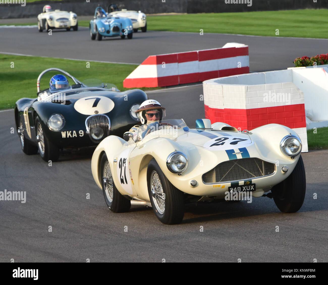 David Bennett, Aston Martin DB 3 S, 248 XUX, Freddie März Memorial Trophy, Goodwood Revival 2014, Goodwood Stockbild