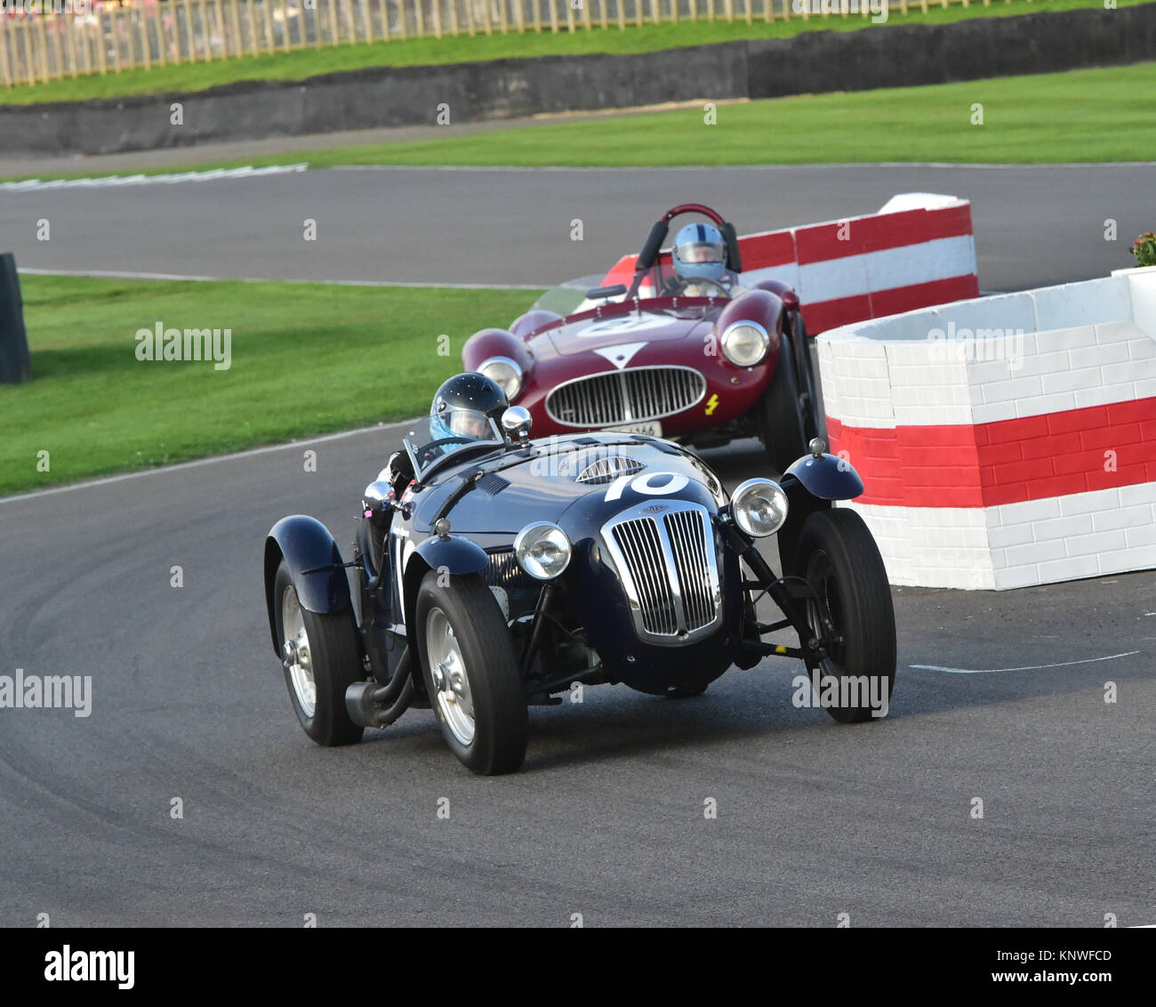 Annette Maurer, Frazer Nash, Le Mans Replica, Freddie März Memorial Trophy, Goodwood Revival 2014, Goodwood Stockbild