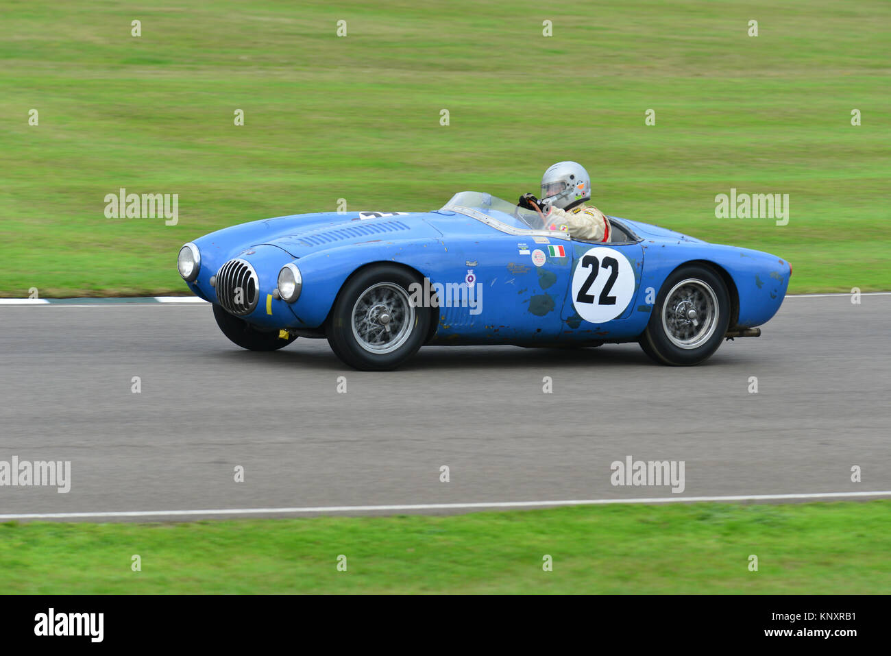 Stephan Rettenmaier, OSCA MT4, madgwick Schale, Goodwood Revival 2013 Stockbild
