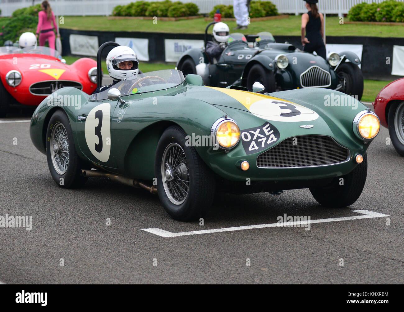 Steve Boultbee-Brooks, Bobby Verdon-Roe, Aston Martin DB 3 S, Freddie März Memorial Trophy, Goodwood Revival Stockbild