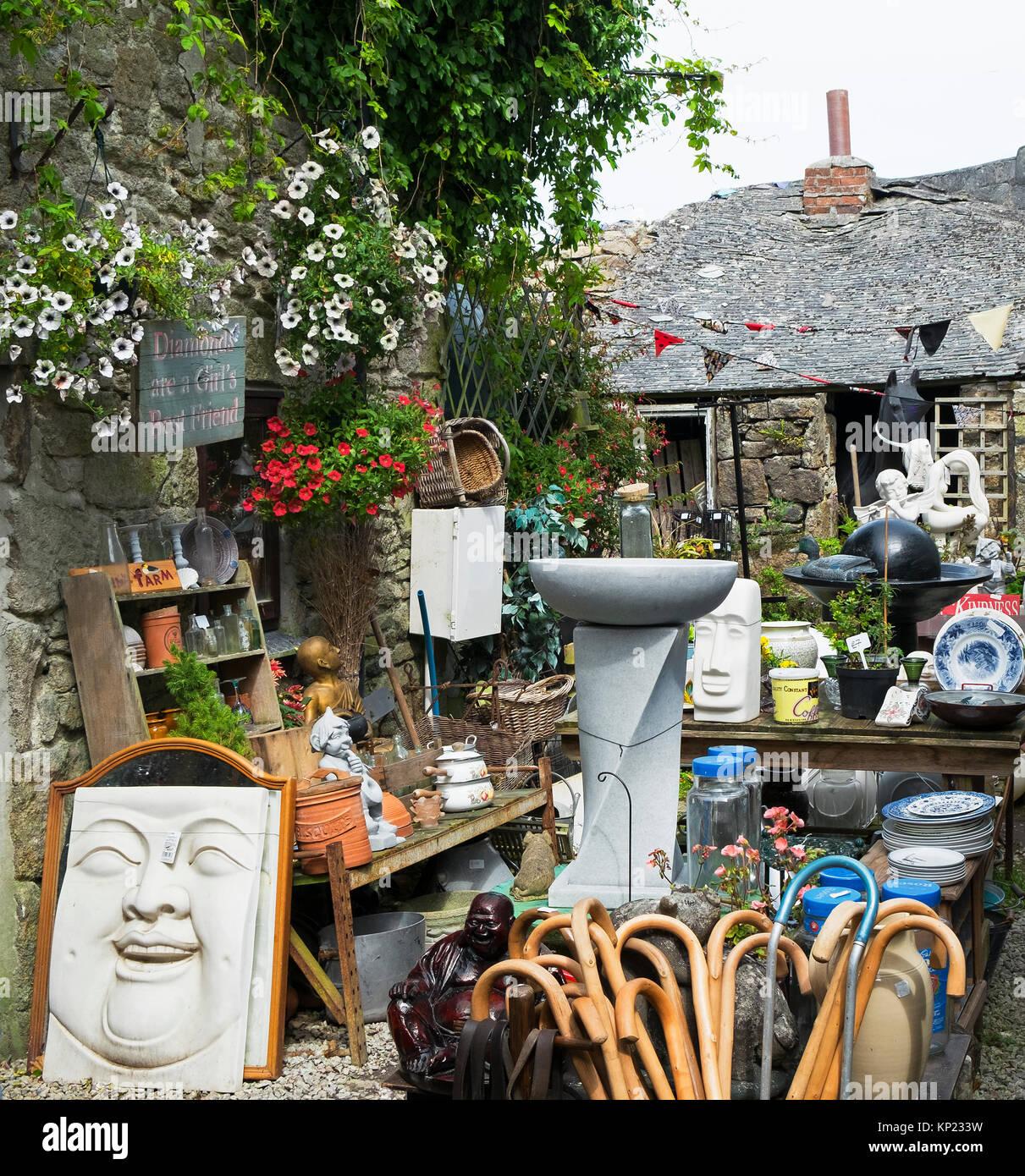 Junk shop in st. Nur, Cornwall, England, Großbritannien. Stockbild