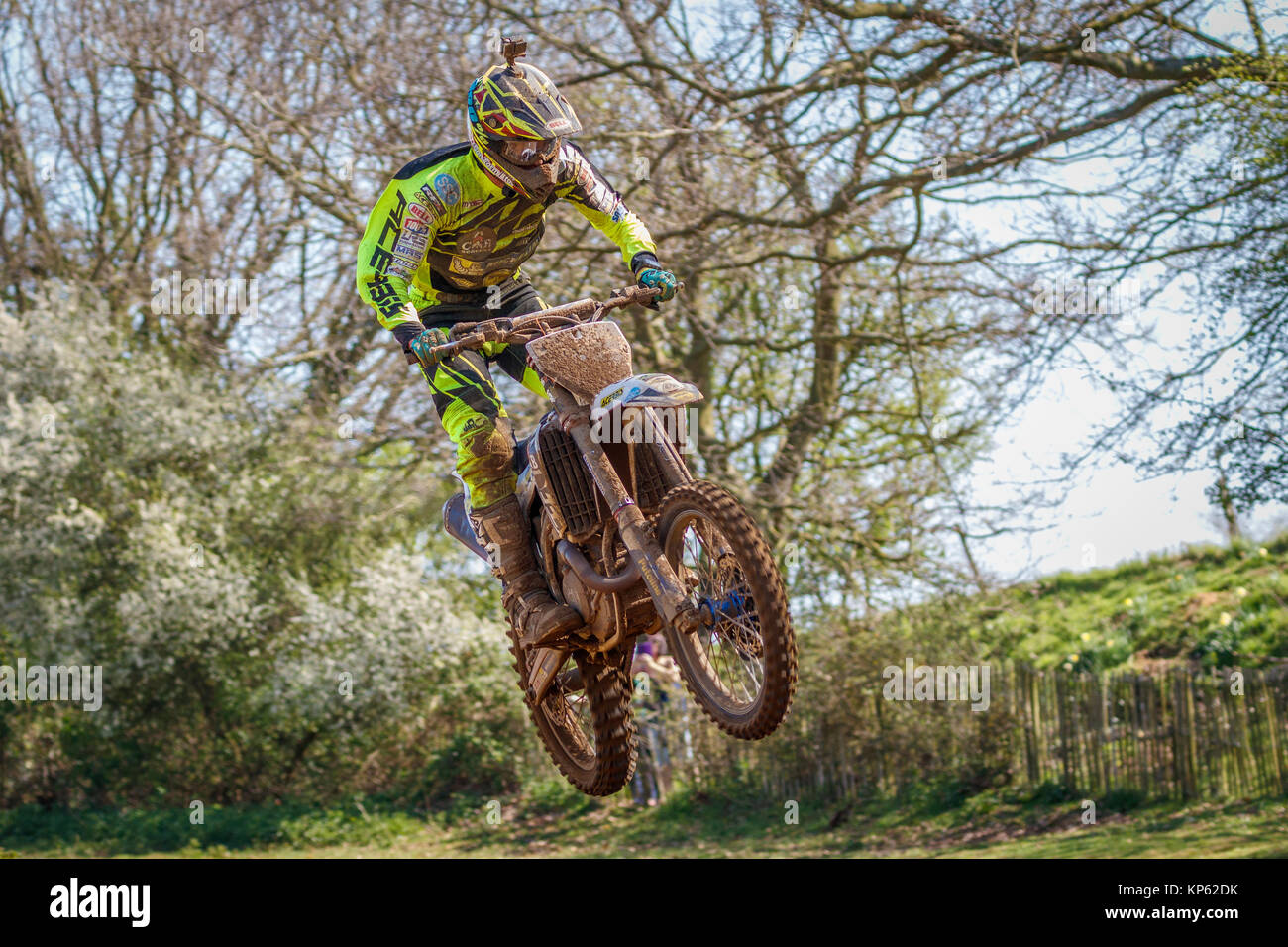 Husqvarna MX1 an den Maxxis British Motocross Championship, Lyng, Cadders Hill, Norfolk, Großbritannien. Stockbild