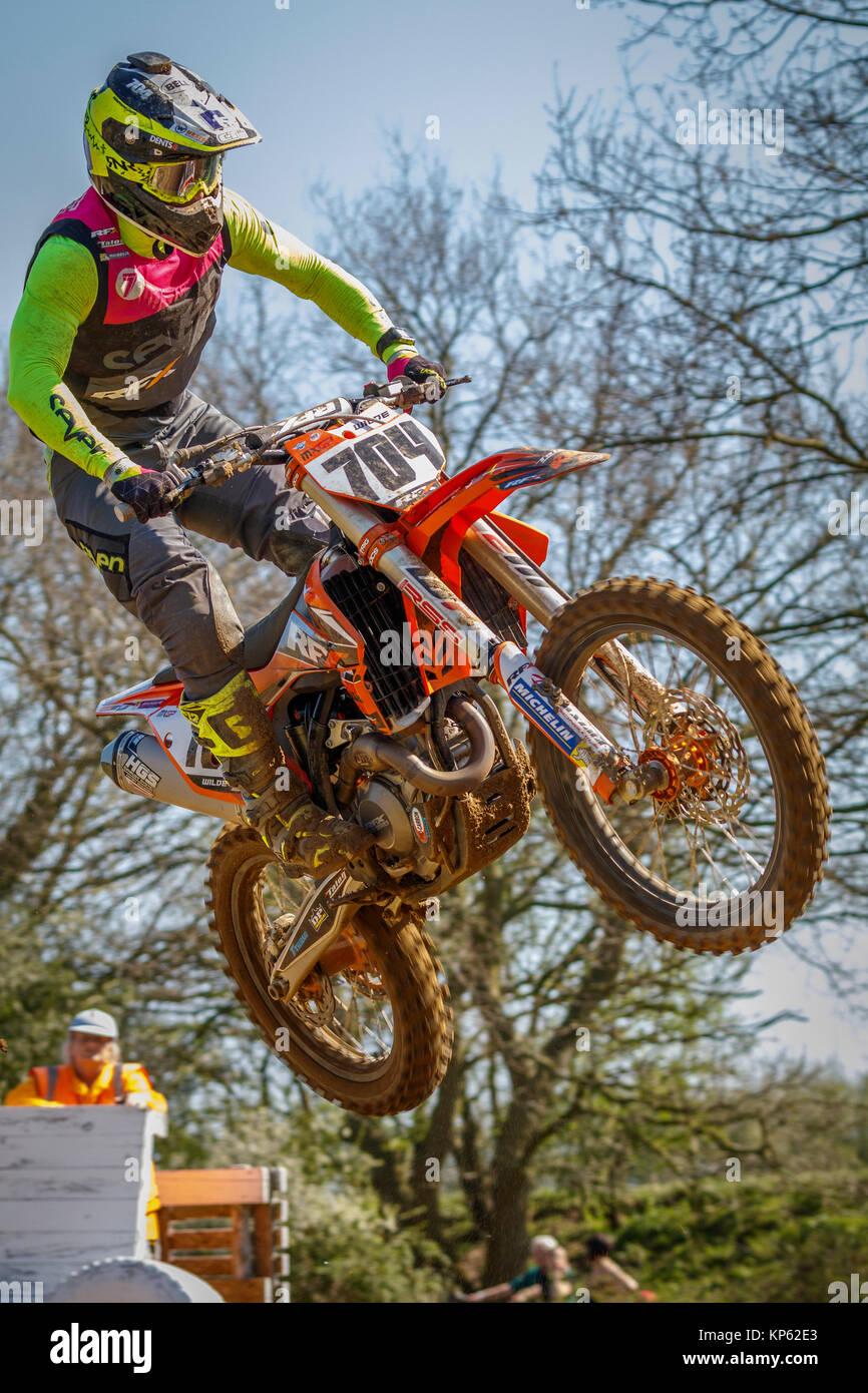 Ashley Wilde des RFX KTM MX1 an den Maxxis British Motocross Championship, Lyng, Cadders Hill, Norfolk, Großbritannien. Stockbild