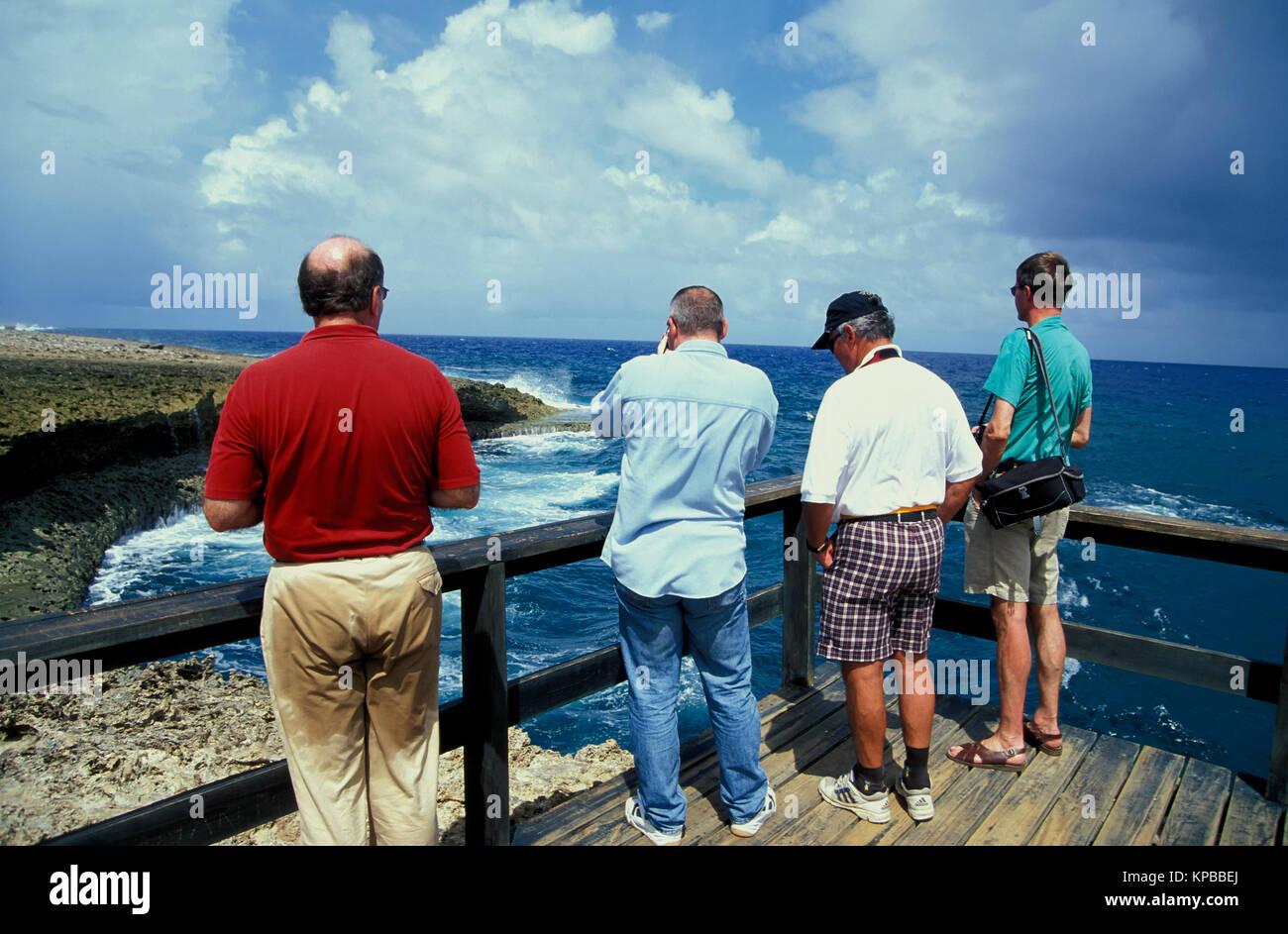 Boka Tabla Felsen, Curacao, Niederländische Antillen Stockbild