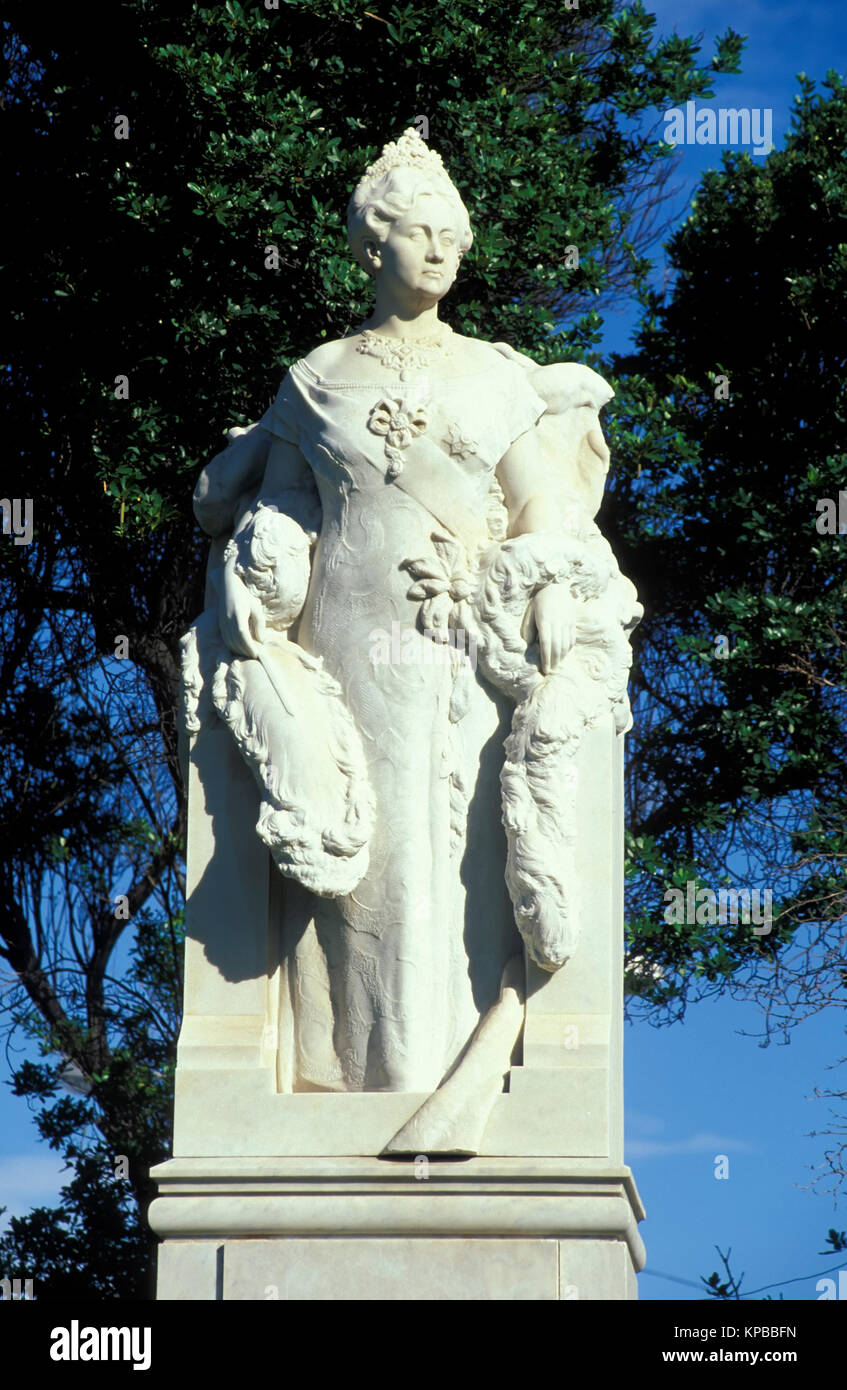 Willemstad, Denkmal an Wilhemin-Platz, Curacao, Niederländische Antillen Stockbild