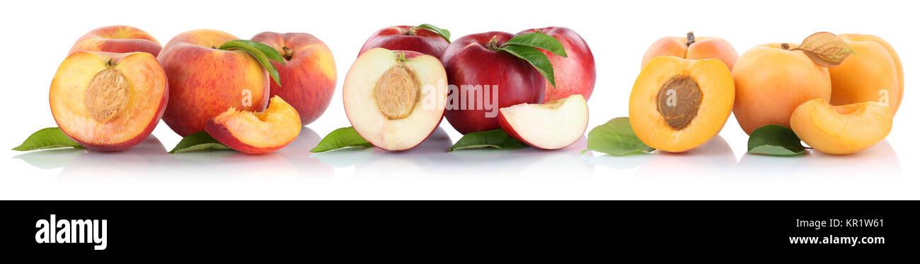 pfirsich nektarine aprikose obst schneiden die h lfte. Black Bedroom Furniture Sets. Home Design Ideas