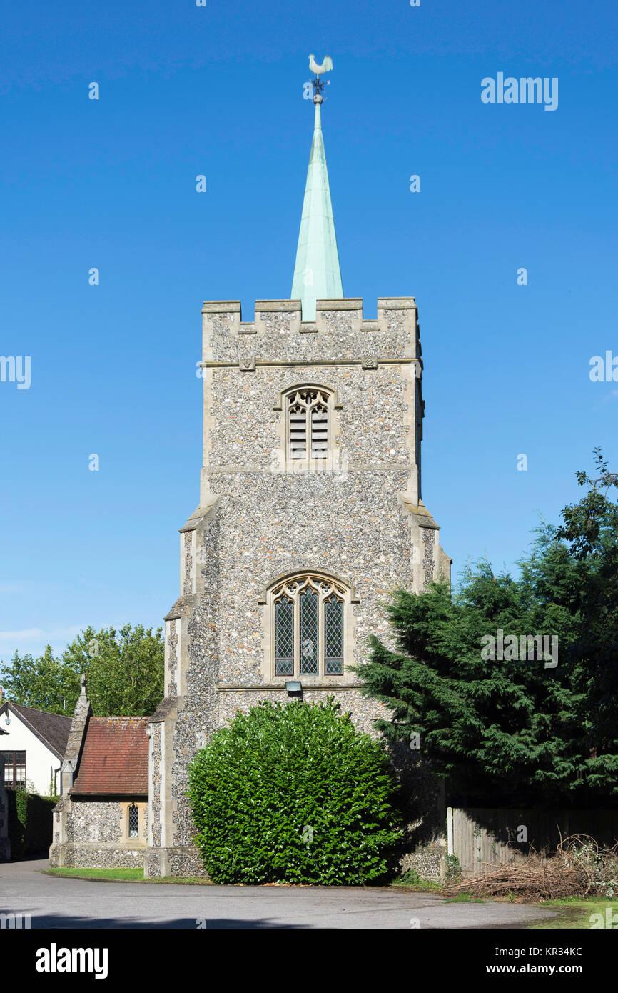 Römisch-katholische Kirche des Hl. Richard von Chichester, Station Road, Buntingford, Hertfordshire, England, Stockbild