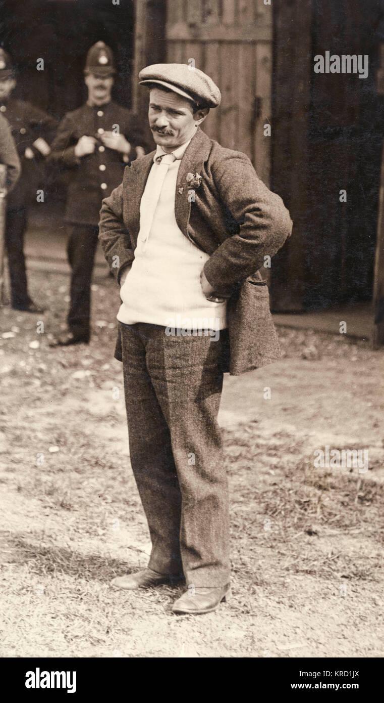 Jules Charles Toussaint Vedrines (1881-1919), französische Piloten, kam ein zweiter Platz in der Großen Stockbild