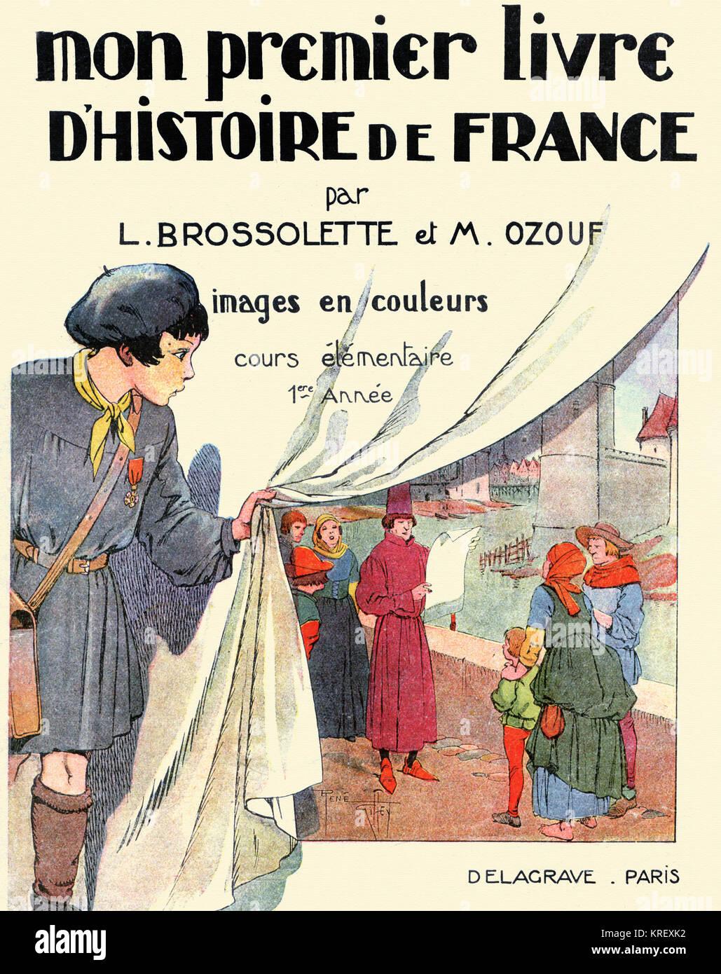 Erstes Buch über die Geschichte Frankreichs Abdeckung Stockbild