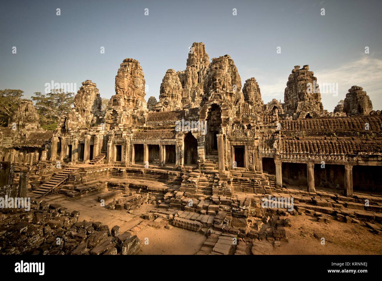 Bayon Tempel, Angkor Wat, Kambodscha, Asien, Stockbild