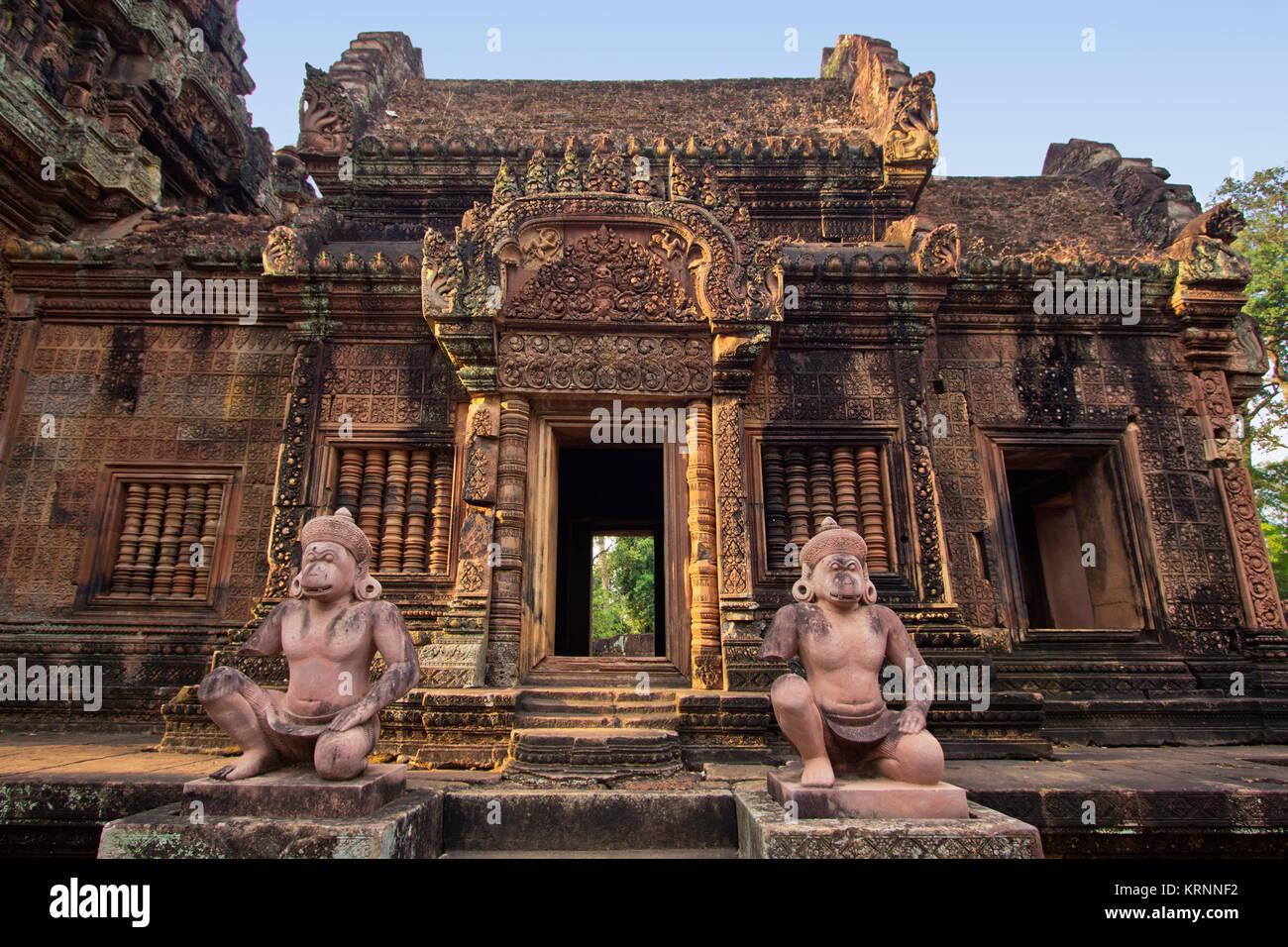 Banteay Srei, Angkor, Kambodscha, Asien, Stockbild