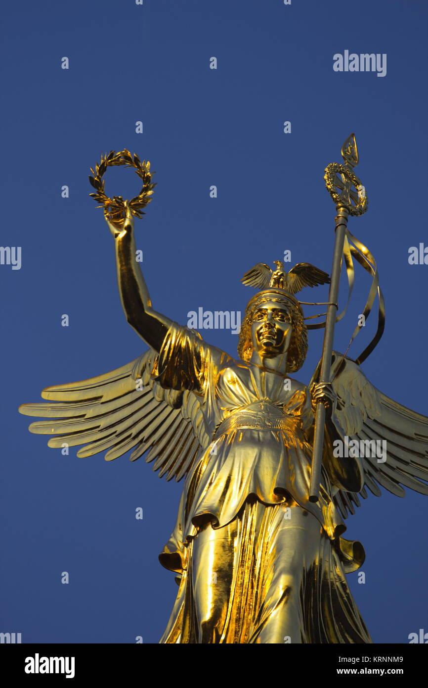 Siegessäule mit neuem Gold, Berlin Stockbild