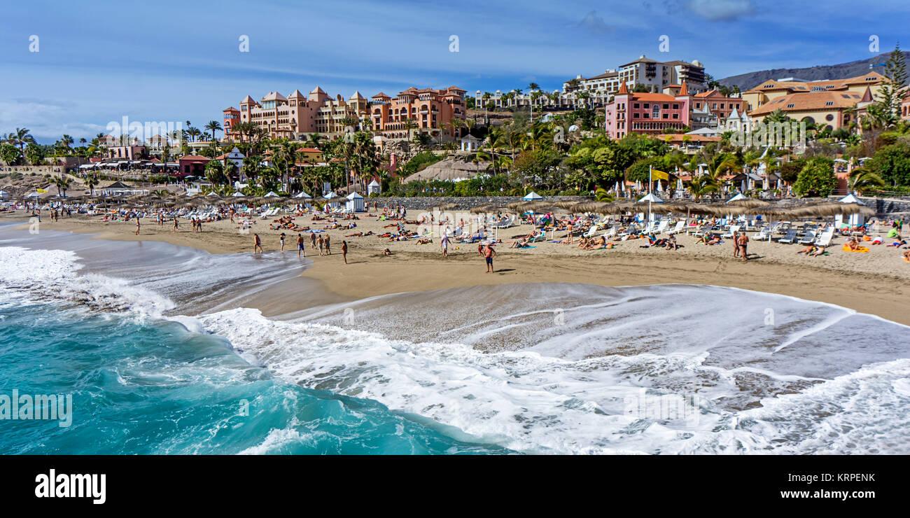 Bahia Del Duque Beach, Resort, Teneriffa, Spanien Stockbild