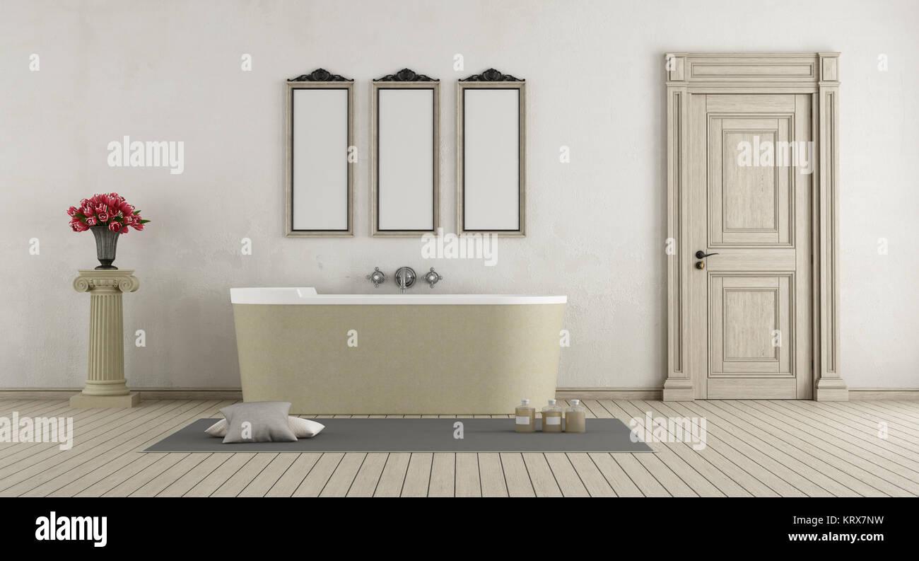 Klassische Badezimmer mit Badewanne aus Stein Stockfoto, Bild ...