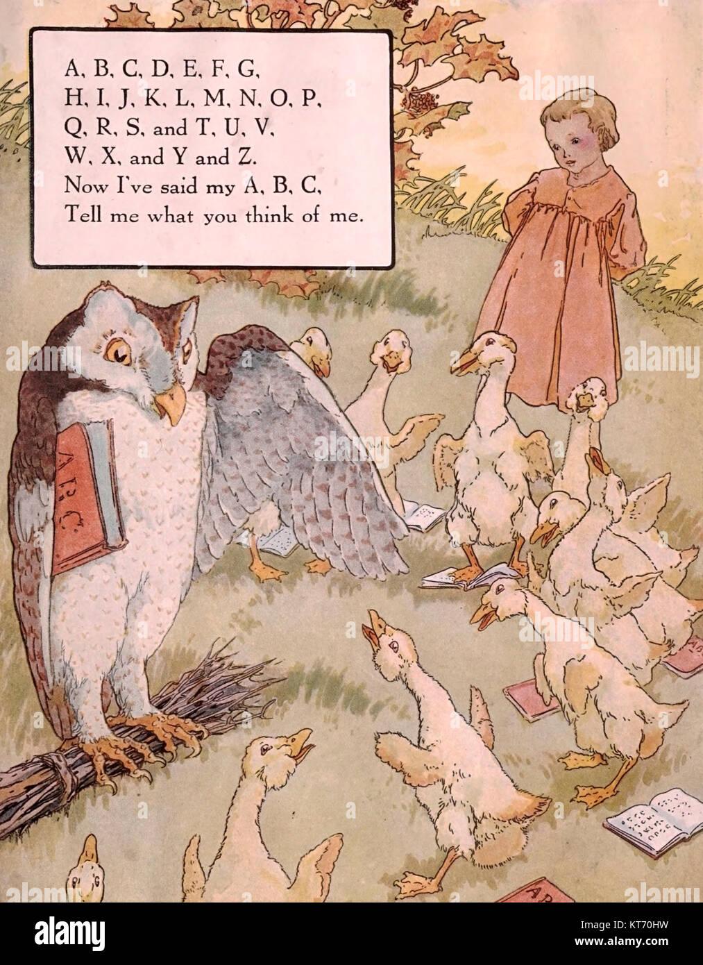 A, B, C - Mother Goose Kinderlieder Stockbild