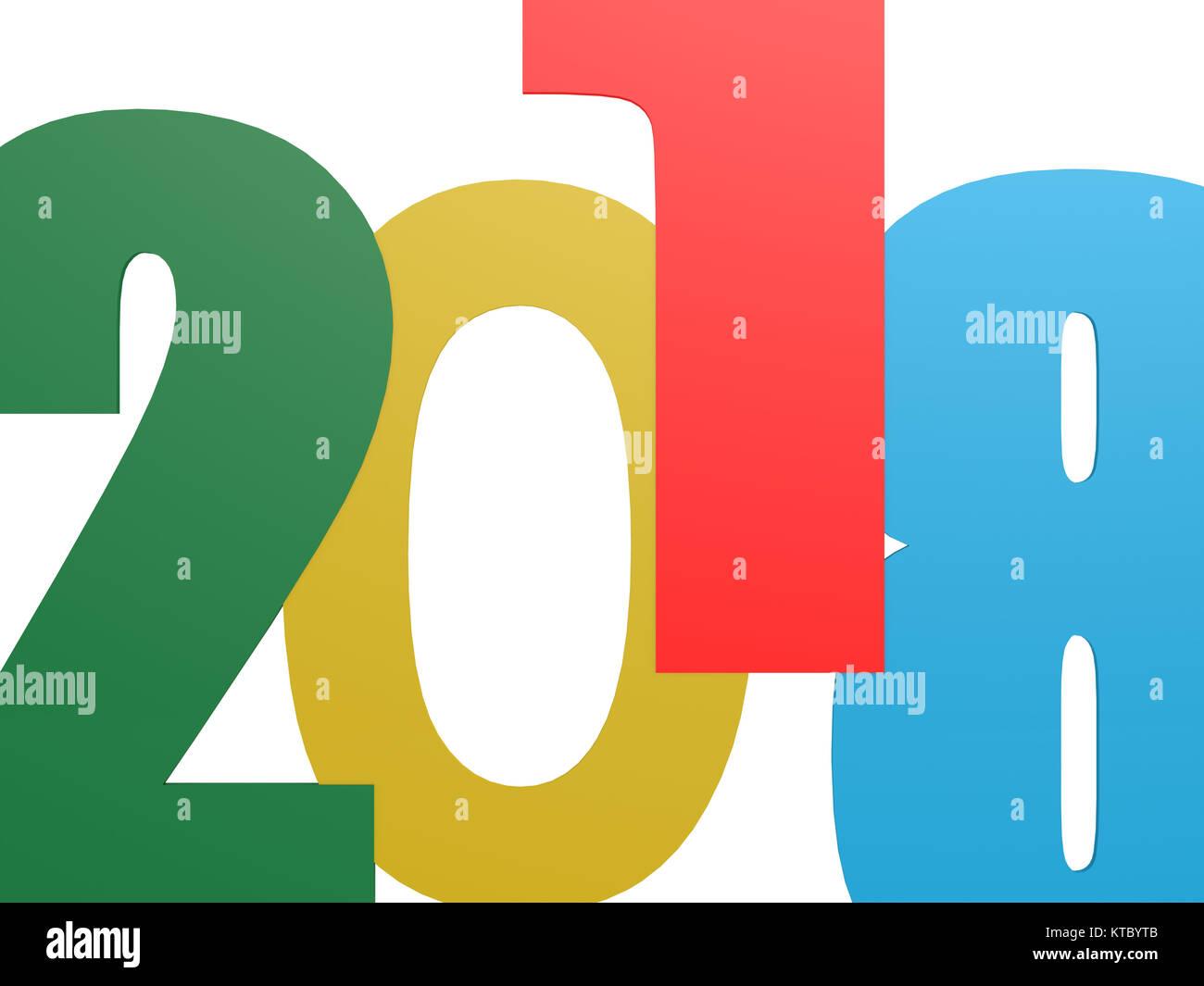 2018 happy new year elegant stockfotos 2018 happy new year elegant bilder alamy. Black Bedroom Furniture Sets. Home Design Ideas