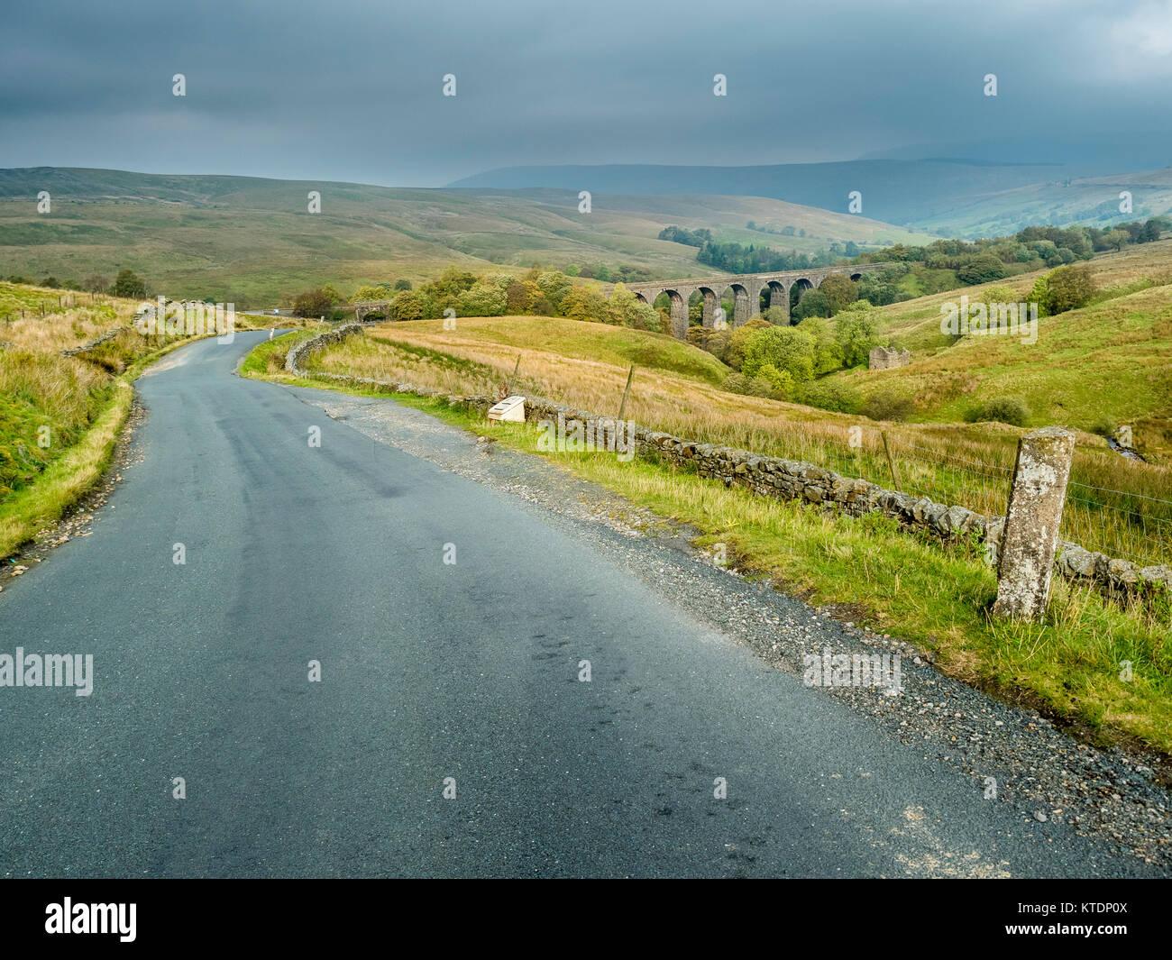 Grossbritannien, England, Yorkshire Dales, Dent Kopf Viadukt Stockbild