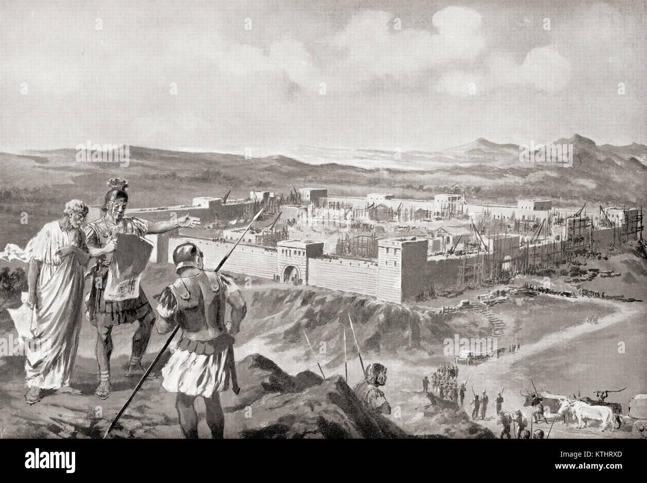 Eine lateinische Kolonie, eine römische Siedlung in den eroberten Territorium. Von Hutchinson's Geschichte Stockbild