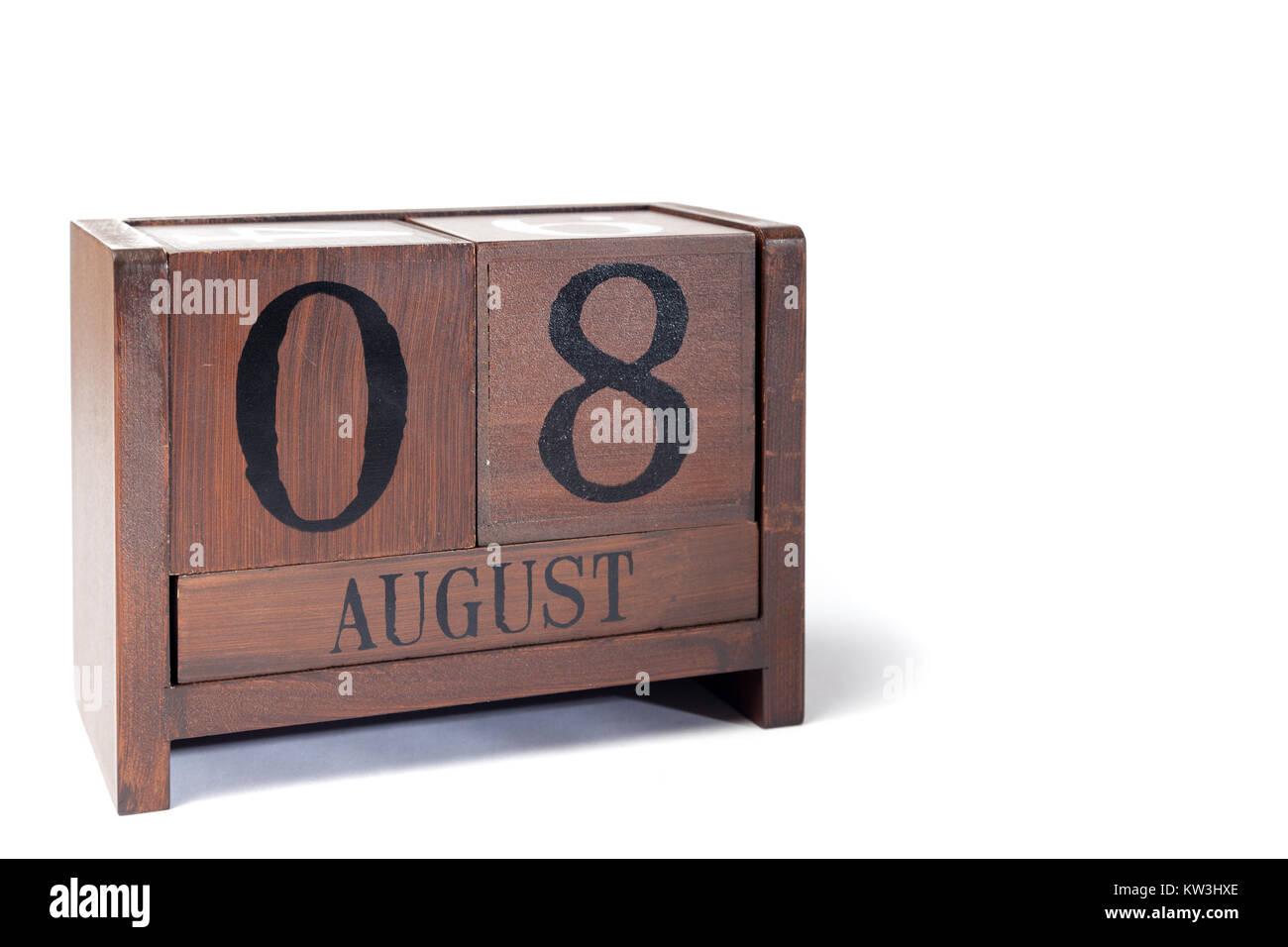 calendar month august stockfotos calendar month august. Black Bedroom Furniture Sets. Home Design Ideas