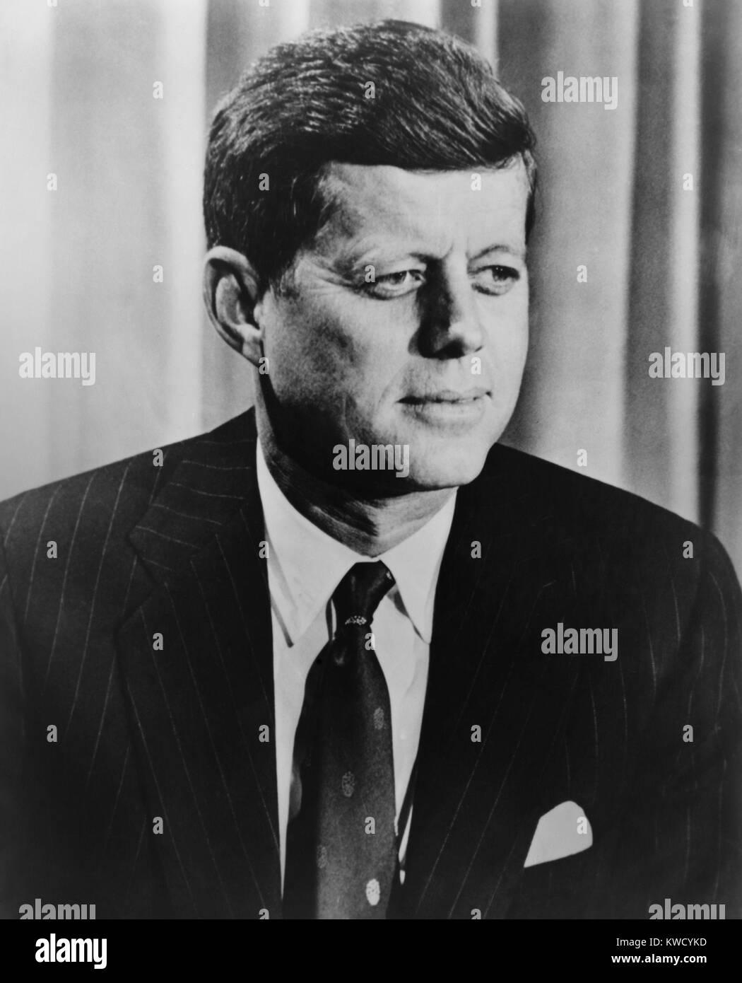 Präsident John F. Kennedy, C. 1960-1963. (BSLOC_2017_2_195) Stockbild