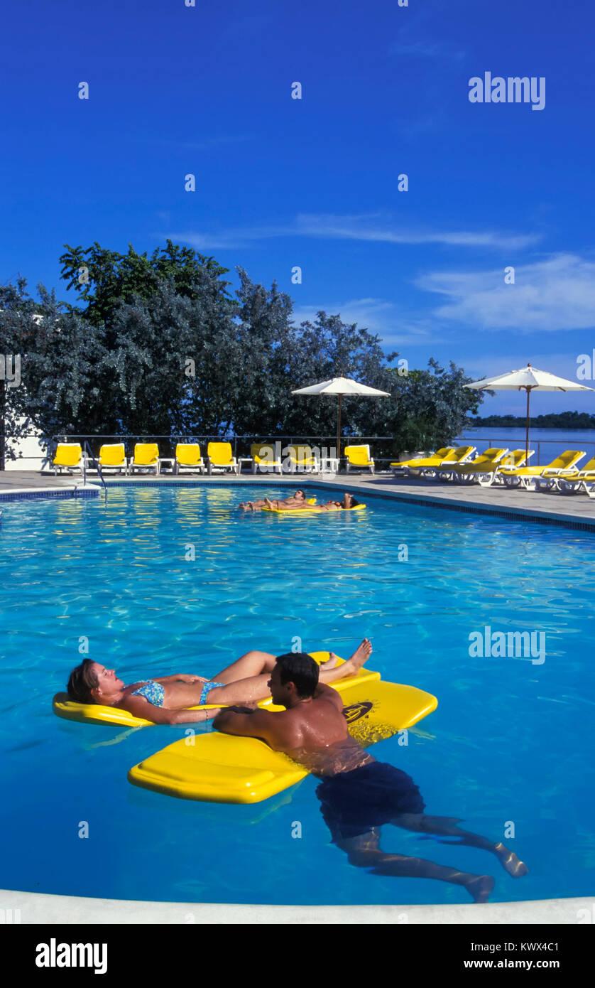 Hotel Pool des Grand Lido Negril, Negril, Jamaika Stockbild