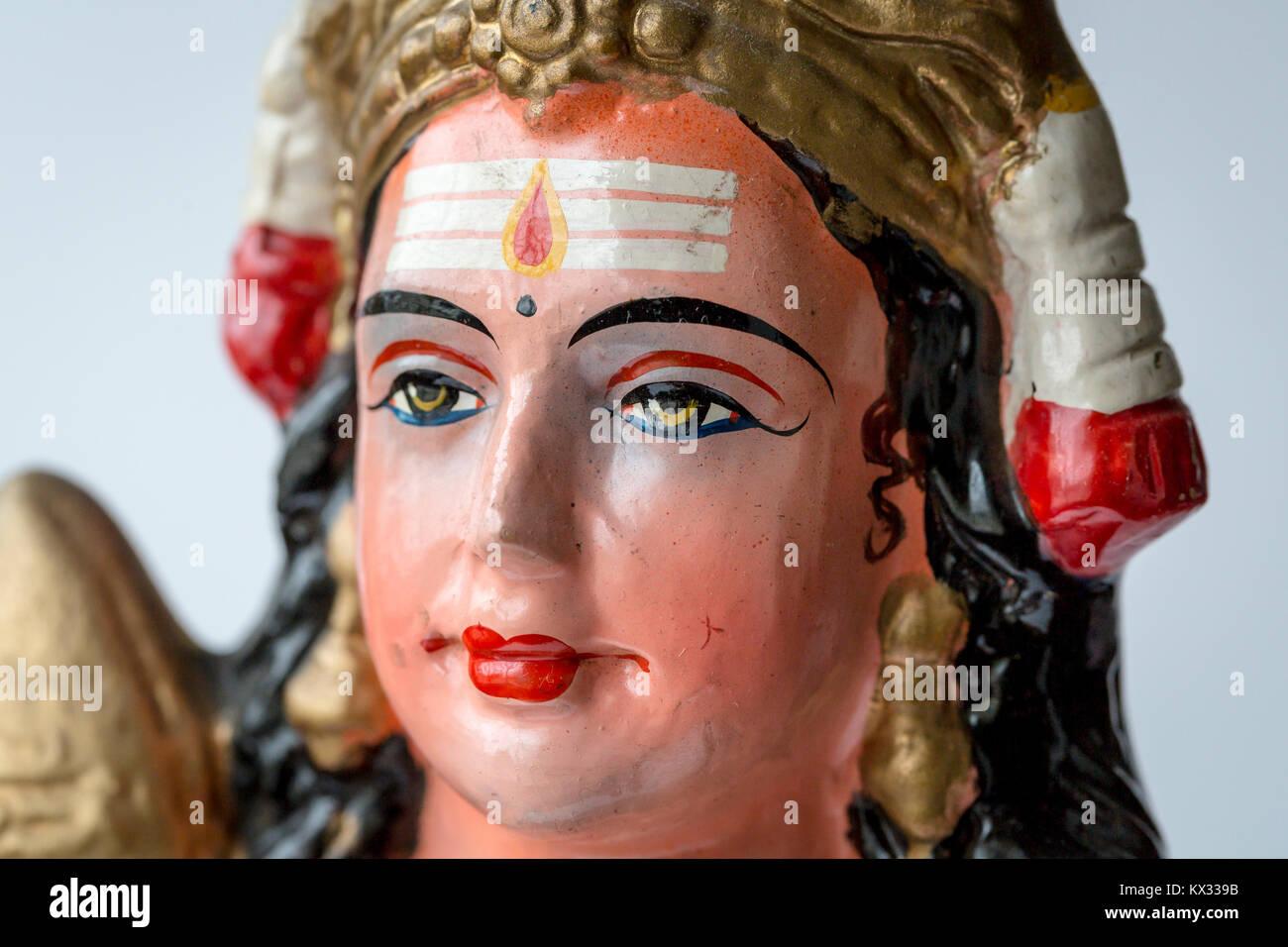 Inspirierend Gesicht Bemalen Beste Wahl Bunt Bemalte Einer Hinduistischen Gottheit Statue