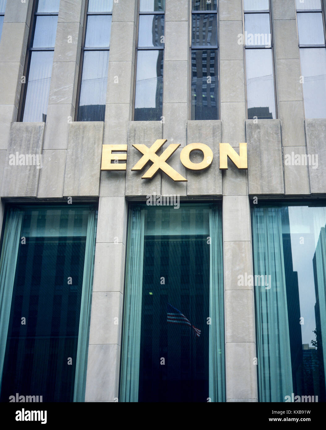 Mai 1982, New York, Exxon Building, 1251 Avenue of the Americas, Sixth Avenue, Manhattan, New York City, NY, NEW Stockbild