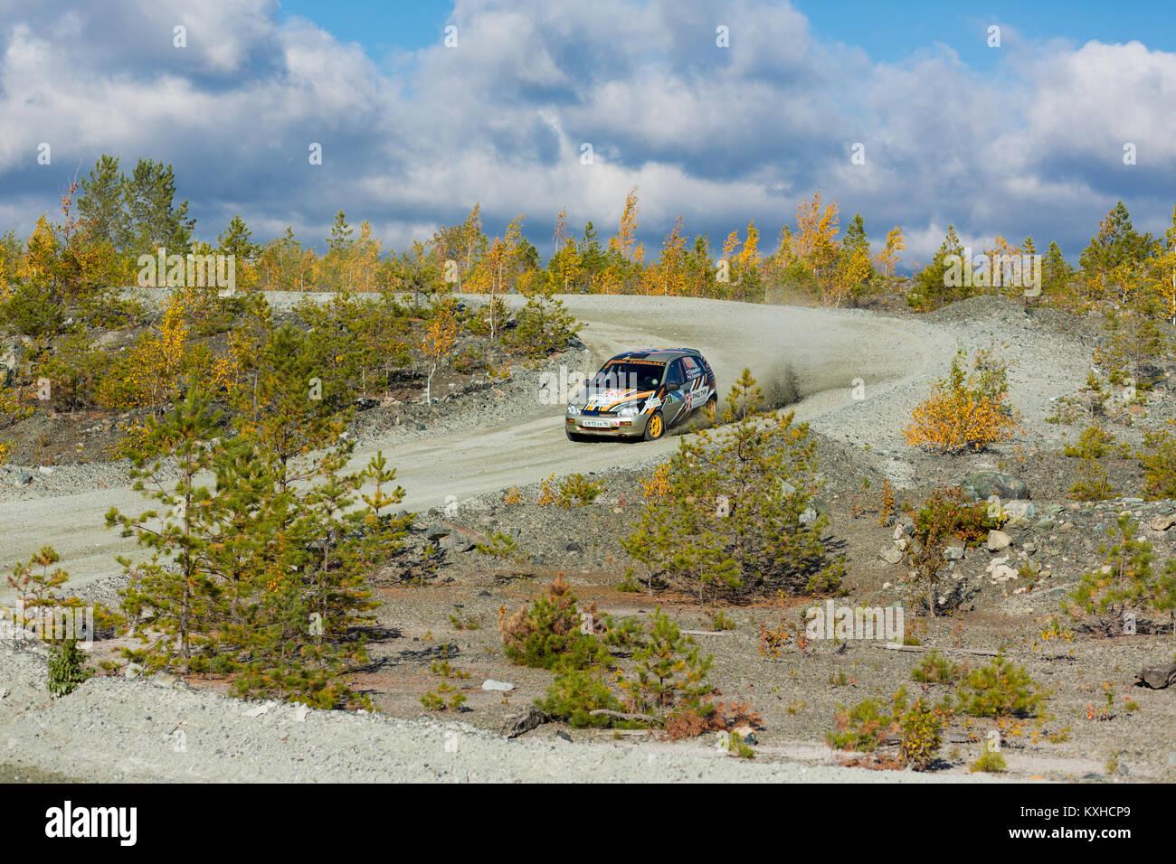 Asbest, Russland, September 17, 2017 - 16 Phase der Russischen Cup rally'S 2017 tilobite 2017', Auto Lada Stockbild