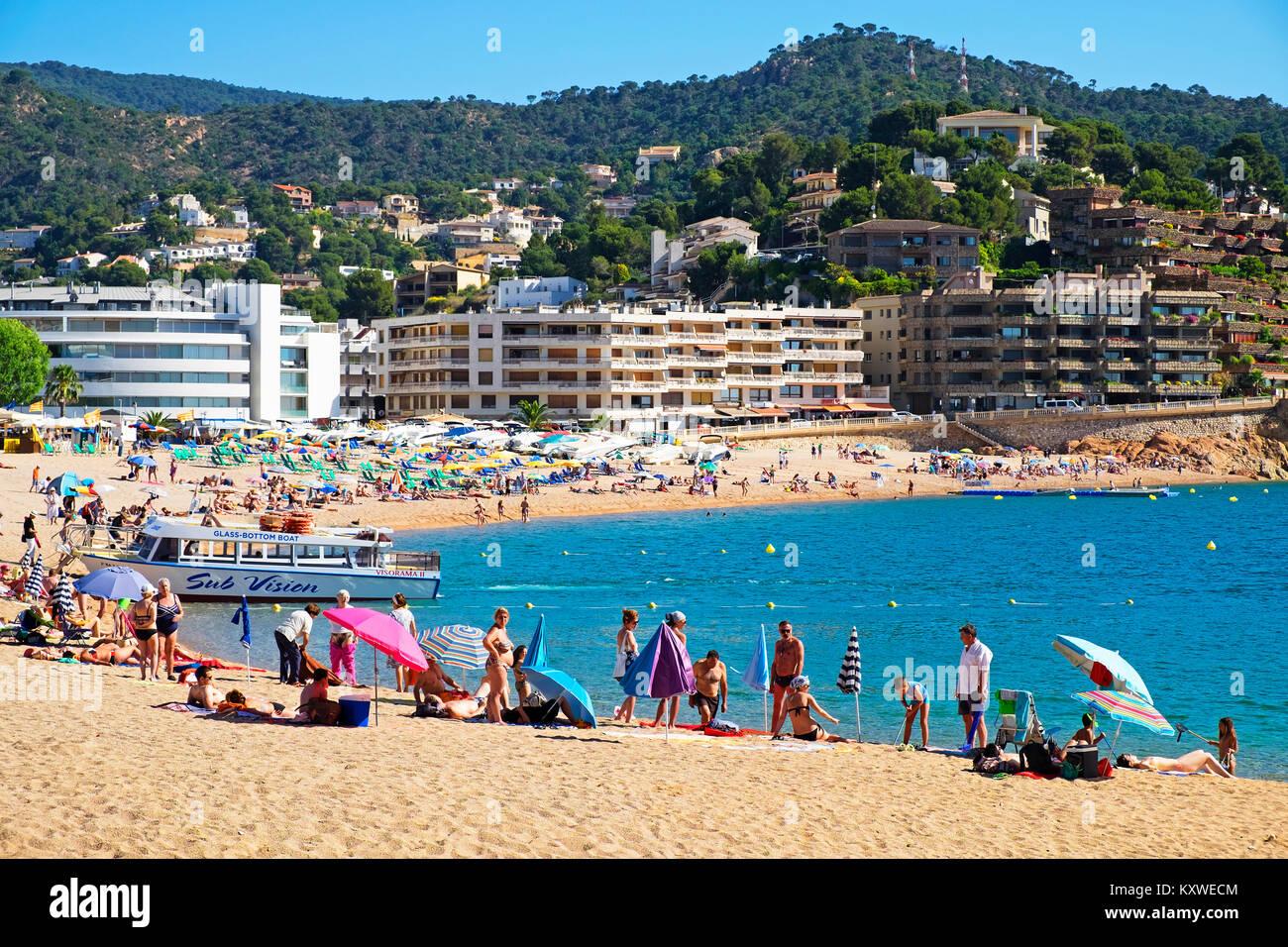 Sommer an der Costa Brava, Tossa de Mar, Katalonien, Espana, Spanien, Stockbild