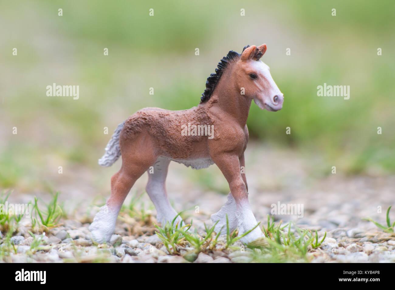 kinderspielzeug, schleich modell pferde stockfoto, bild: 171734256