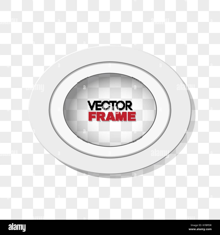 Oval weiß Bilderrahmen auf transparentem Hintergrund Vektor ...