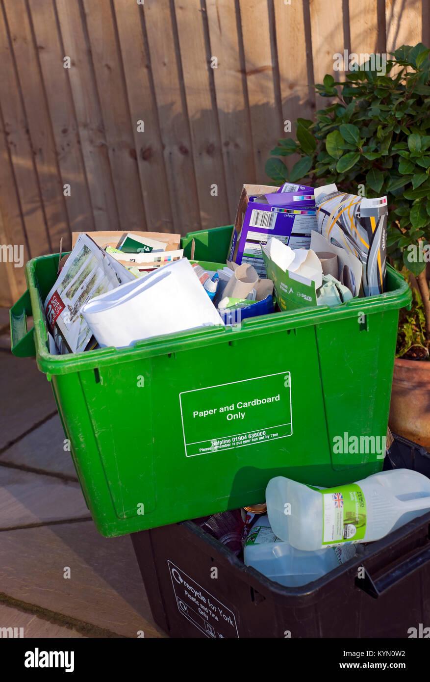 Recyclingkartons England UK Vereinigtes Königreich GB Grossbritannien Stockbild