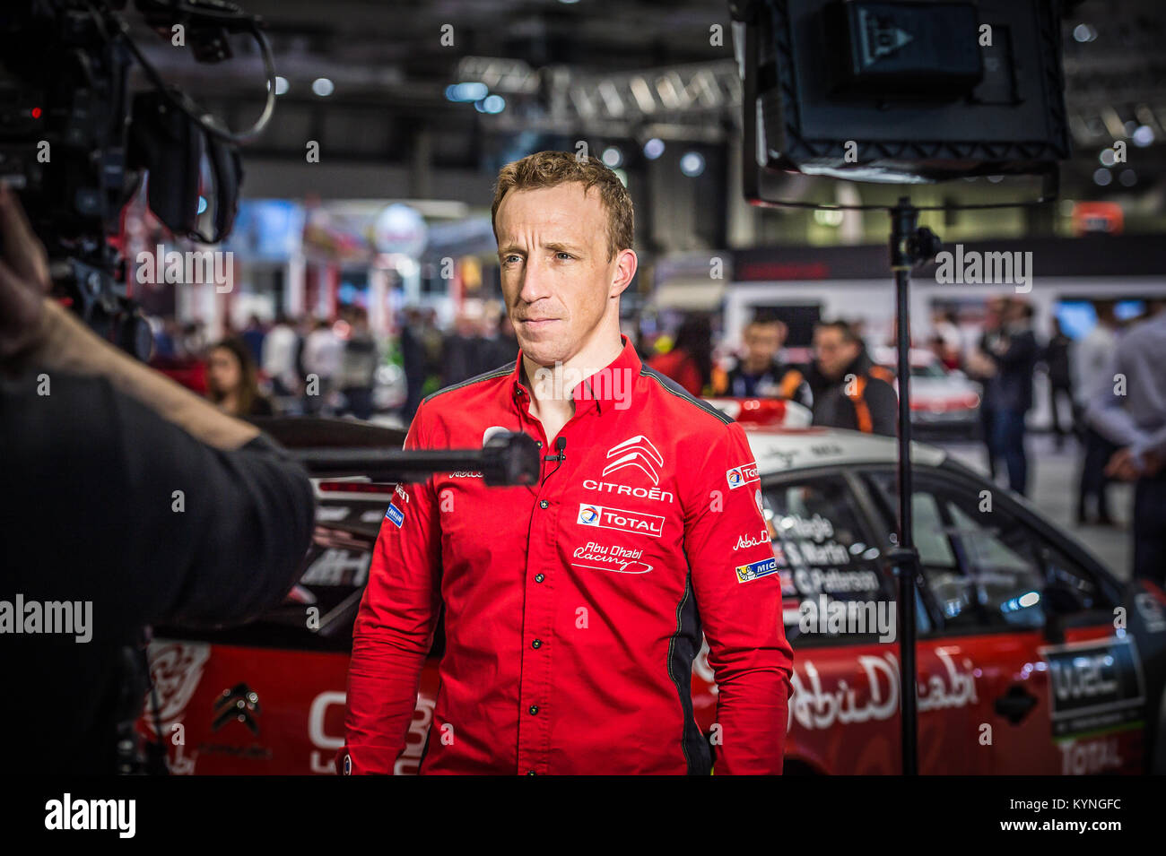 Kris Meeks von Citroen Total Abu Dhabi WRT auf der WRC starten, Autosport International Racing Car Show 2018 bei Stockbild