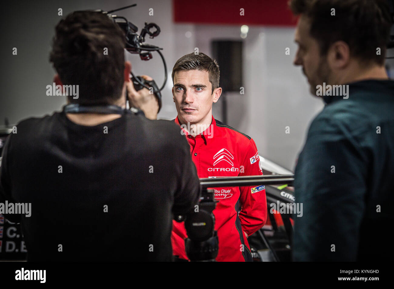 Craig Breen von Citroen Total Abu Dhabi WRT auf der WRC starten, Autosport International Racing Car Show 2018 bei Stockbild