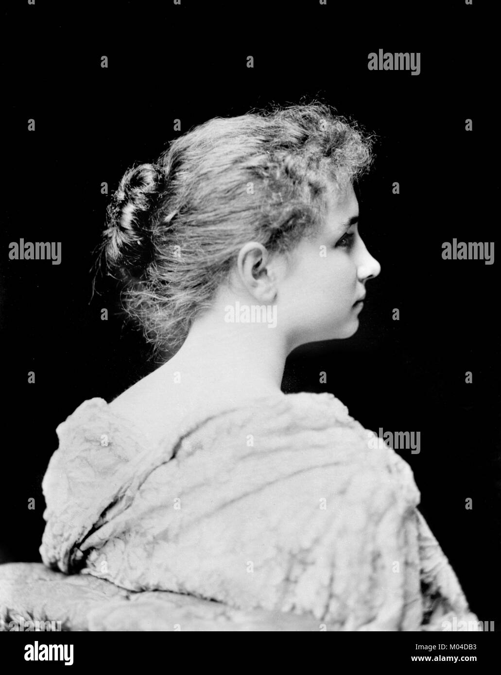 Helen Keller (1880-1968). Phototgraph der Taubblinden Autor und politischer Aktivist von C M Bell, c. 1891/94 Stockbild