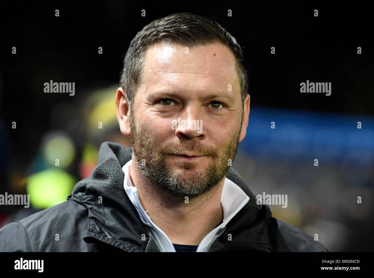 Berlin, Deutschland. 19 Jan, 2018. Trainer Pal DARDAI (B), Portraet, Portrait, Kopf, Fussball 1. 1. Fussballbundesliga, Stockbild