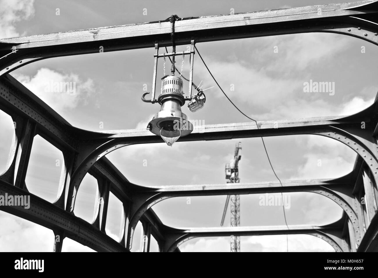 Brücke in Berlin. Stockbild