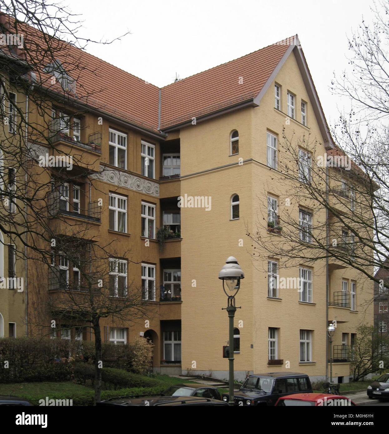 Burgunder Straße 1 Berlin-Wilmersdorf Stockbild
