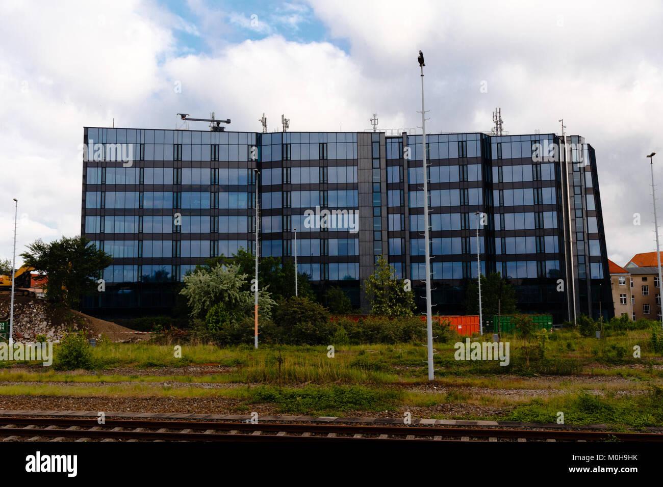 Bürogebäude am Güterbahnhof Wilmersdorf 20140518 2 Stockbild