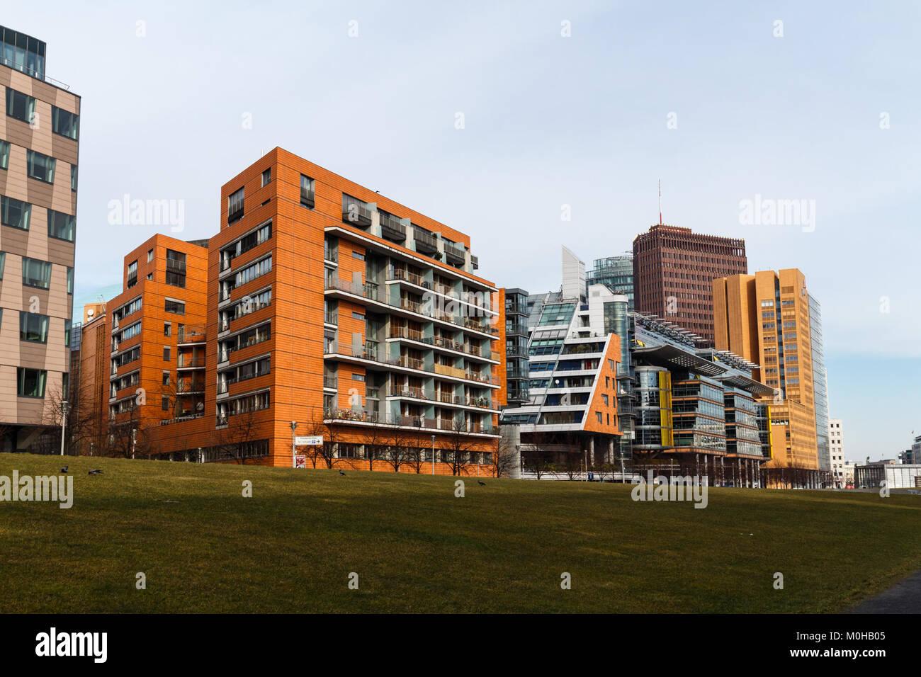 Bürogebäude am Potsdamer Platz 20150224 5 Stockbild